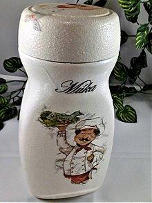 Nádoby - Dóza na múku -skúsený kuchár - 11077642_