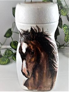 Nádoby - Dóza -hrdý koník - 11077697_