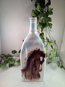 Nádoby - Fľaša z tátošom - 11078800_