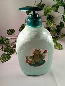 Nádoby - Fľaša Žabka pre deti  na sprchovací gél alebo šampon - 11078895_