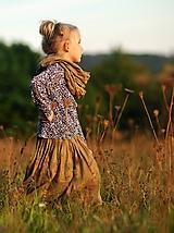Detské oblečenie - Lněná sukně Oříšková - 11077419_