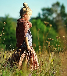 Detské oblečenie - Lněná sukně Terakota - 11078937_