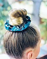 Ozdoby do vlasov - Bavlnená elastická gumička scrunchie srnka - 11075517_