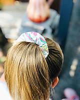 Ozdoby do vlasov - Bavlnená elastická gumička scrunchie white - 11075594_