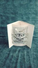 Dekorácie - Mačka + pirát = mačkopirát => mačací motív vyskladaný z knihy - 11075062_