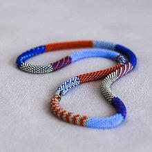 Náhrdelníky - Háčkovaný korálkový náhrdelník - Buoy - 11077937_