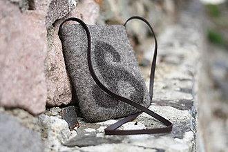 Kabelky - plstená kabelka - keď netreba veľa - 11077740_
