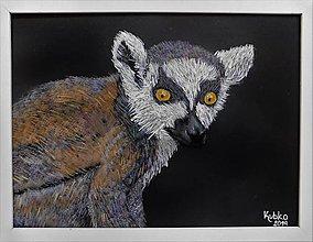 Obrazy - 3. Lemur - 11078452_