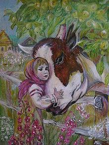 Kresby - S kravičkou - 11078602_