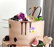 Dekorácie - Zrkadlový zápich na tortu - Číslo (7x13cm) - 11076760_