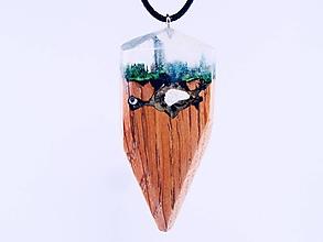 Náhrdelníky - Drevený náhrdelník - Jaskyňa - 11075294_