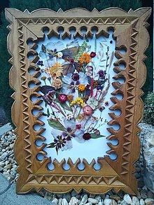 Obrazy - Obraz z lisovaných a sušeních kvetov - 11078483_