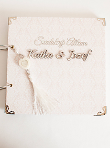 """Papiernictvo - Svadobný scrapbook album """"Katka"""" - 11077985_"""