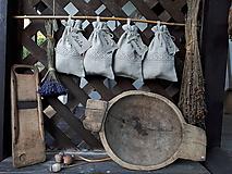 Úžitkový textil - Ľanové vrecúško na bylinky - 11078490_