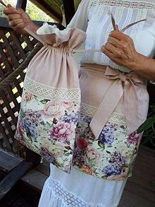 Úžitkový textil - Ľanové vrecko na chlieb Madame Bovary - 11078419_
