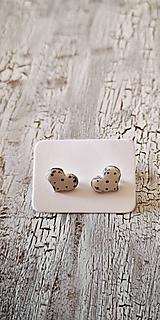 Náušnice - PiDi maľované bodkované srdiečka - 11076334_