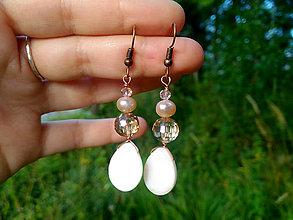 Náušnice - Náušnice s riečnou perlou - 11075908_