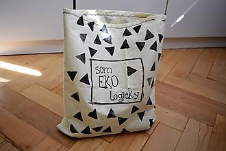 Úžitkový textil - Vrecko na pečivo...eko-logicky - 11081572_