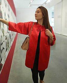 Kabáty - Červený kabátik/ výpredaj z 89 eur na 69! - 11081262_