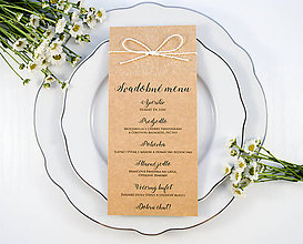 Papiernictvo - Svadobné menu Rozkvitnutá lúka - 11082462_