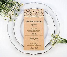 Papiernictvo - Srdiečkové svadobné menu - 11082643_