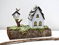 Dekorácie - Drevená dekorácia-Keď príde zima - 11079798_