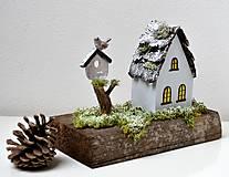 Dekorácie - Drevená dekorácia-Keď príde zima - 11079801_