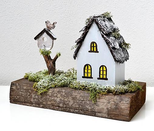 Drevená dekorácia-Keď príde zima
