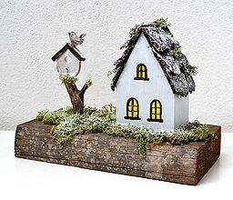 Dekorácie - Drevená dekorácia-Keď príde zima - 11079797_