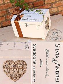 Krabičky - SVADOBNÁ TRUHLIČKA SPOMIENOK - 11079795_