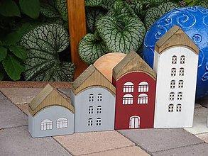 Dekorácie - Sada drevených domčekov - 11079981_