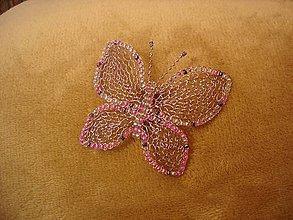 Odznaky/Brošne - Motýlik - 11082045_