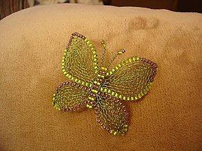 Odznaky/Brošne - Motýlik - 11082075_