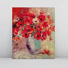 Obrazy - Červené maky 3_predané - 11082523_