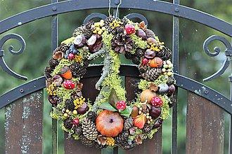 Dekorácie - Jesenný venček - 11081822_