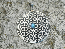 Náhrdelníky - flowers of life- moon stone-mesačný kameň - 11082928_