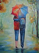 Obrazy - Láska pod dáždnikom... - 11081155_