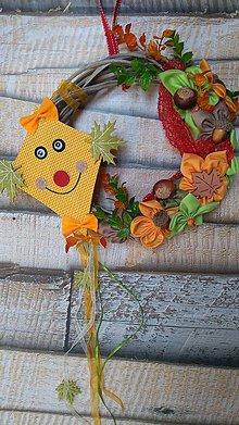 Dekorácie - Jesenný venček so šarkanom - 11082505_