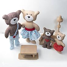 Hračky - rodinka medvedíkov - 11081976_