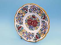 Nádoby - Ručne vyrezávaný tanier - 11081493_