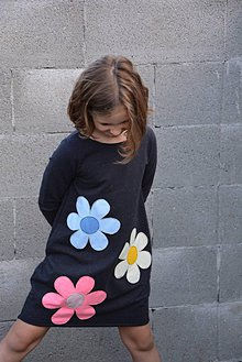Detské oblečenie - Teplákové balónové šaty/tunika Bella, jediný kus! - 11082015_