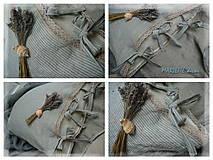 Textil - odstín BLUE/NATURAL stripes...100% len, š.163cm - 11081286_