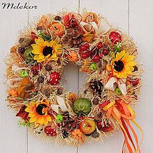 Dekorácie - Veselý jesenný veniec - 11082000_