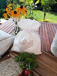 Úžitkový textil - Ľanové vrecúško - 11082365_