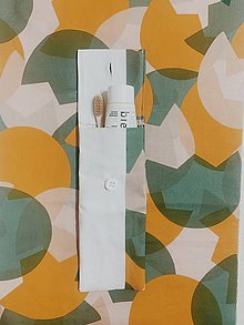 Drobnosti - #zozvyškov -obal na zubnú kefku (Biela) - 11081503_
