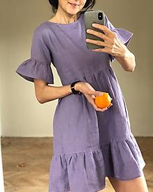 Šaty - Dámske ľanové šaty DAISY - 11079719_