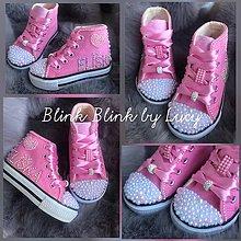 Topánočky - Ružové tenisky pre malú princezničku. - 11080774_