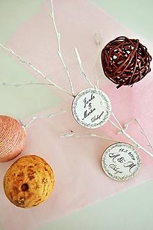 Darčeky pre svadobčanov - Svadobné magnetky - 11081291_