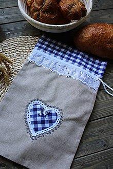 Úžitkový textil - Vidiecke vrecúško na pečivo - 11080326_