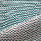 Textil - Lenny Lamb Little Herringbone Turquoise - 11079498_